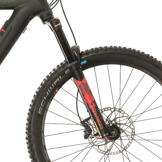 Zoom suspension VTT Peugeot eM02 FS 27.5+ Powertube SLX11 140 mm