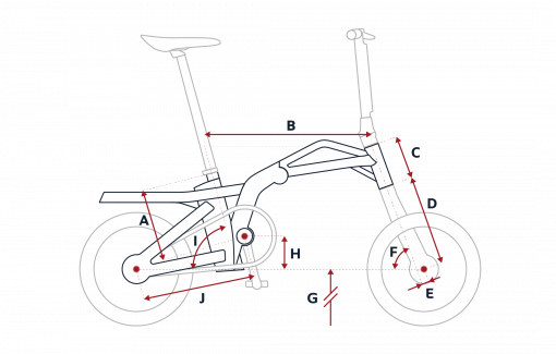 Peugeot eF01 folding bike geometry