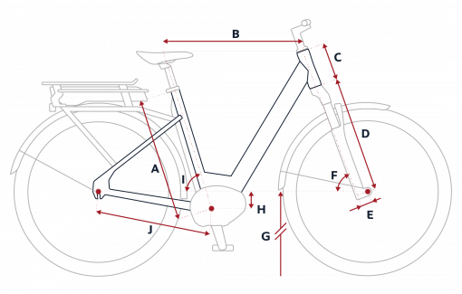 Peugeot eC02 electric bike geometry