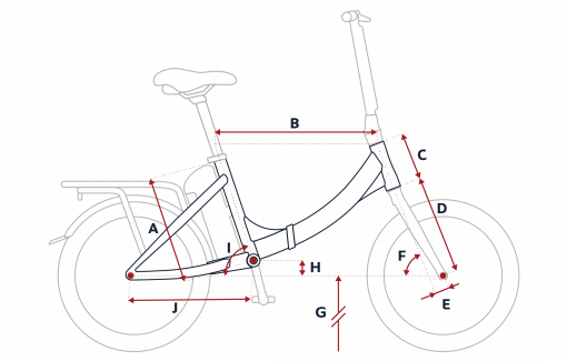 Peugeot eF02 folding bike geometry