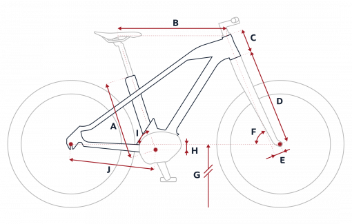 Peugeot eU01 electric urban bike geometry
