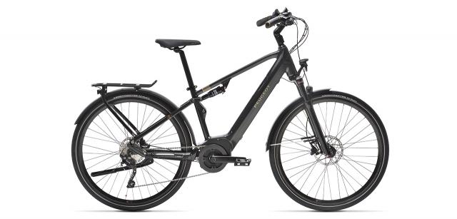 Vélo tout chemin électrique tout suspendu à batterie intégrée Peugeot eT01 FS équipé