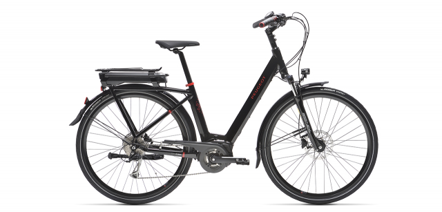 Peugeot eC01 D9 electric city bike on white background