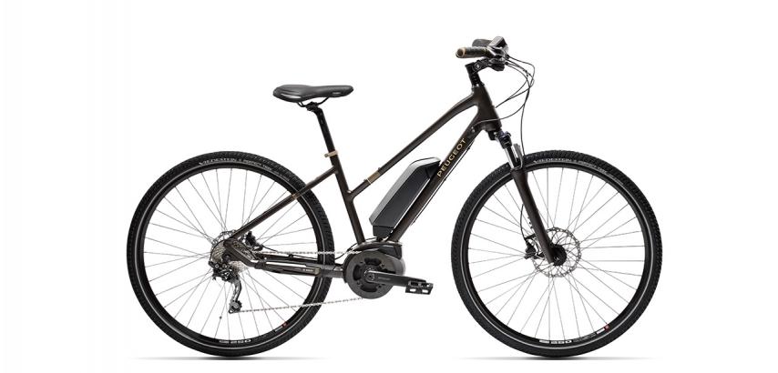 Mixte electric trekking bike Peugeot eT01 D10